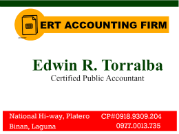 ERT ACCOUNTING FIRM